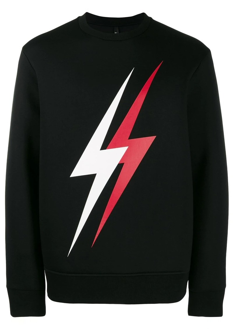 Neil Barrett printed lightning bolt sweatshirt