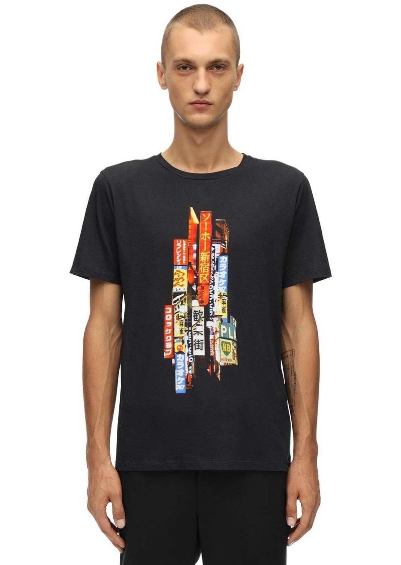Neil Barrett Printed Lights Cotton Jersey T-shirt