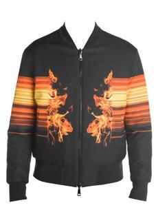 Neil Barrett Reversible Fire Graphic Print Bomber Jacket