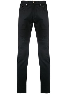 Neil Barrett ribbed detail slim fit trousers