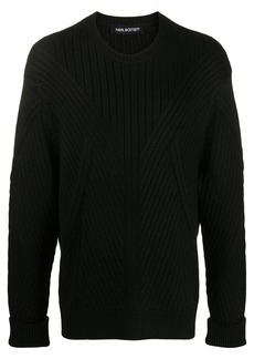Neil Barrett ribbed knit jumper
