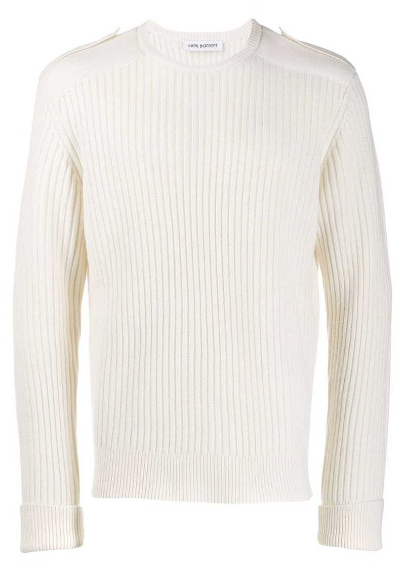Neil Barrett ribbed knit sweater