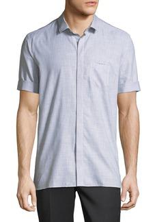 Neil Barrett Roll-Cuff Cotton Shirt