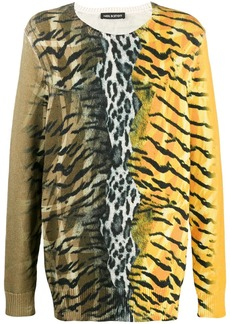 Neil Barrett safari print jumper