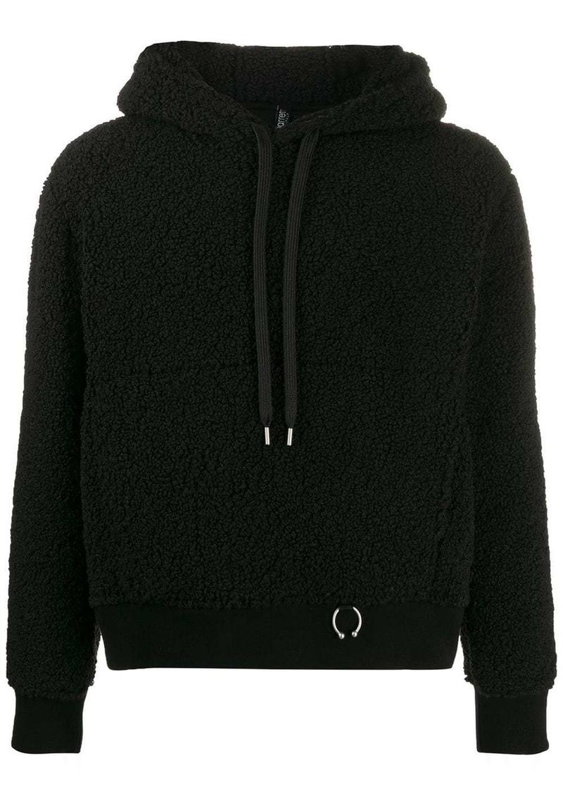 Neil Barrett shearling pierced hoodie