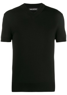 Neil Barrett short-sleeved V-neck jumper