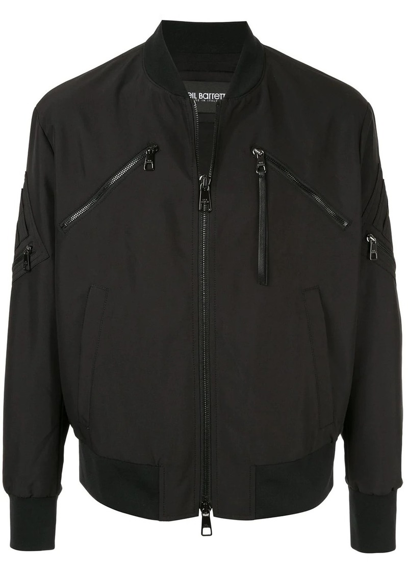 Neil Barrett slim multi-pocket bomber jacket