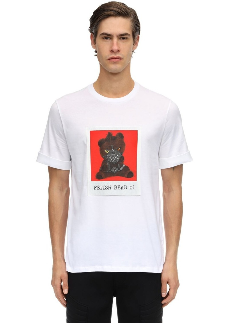 Neil Barrett Slim Printed Cotton Jersey T-shirt