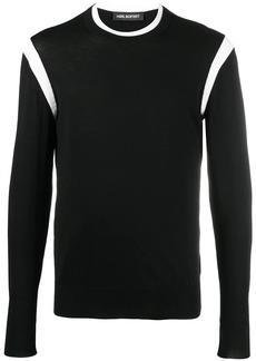 Neil Barrett stripe-detail crew-neck jumper