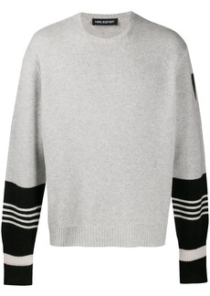 Neil Barrett stripe-detail knitted jumper
