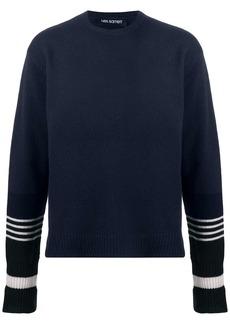 Neil Barrett stripe-detail Thunderbolt-patch jumper