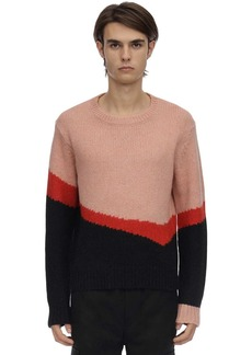 Neil Barrett Striped Alpaca Blend Knit Sweater