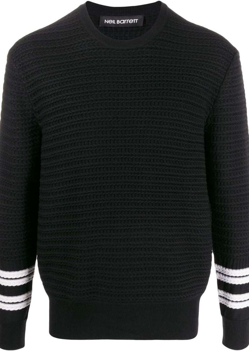 Neil Barrett striped detail knitted jumper
