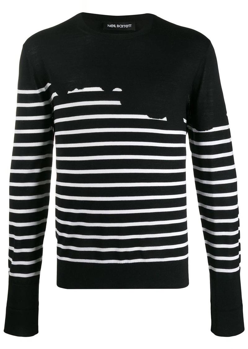 Neil Barrett striped regular-fit jumper