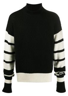 Neil Barrett striped-sleeve jumper