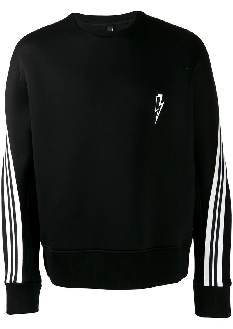 Neil Barrett striped sleeved sweatshirt