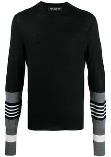 Neil Barrett striped sleeves crew neck jumper
