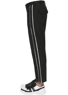 Neil Barrett Striped Stretch Cotton Canvas Pants