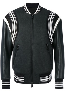 Neil Barrett striped trim bomber jacket