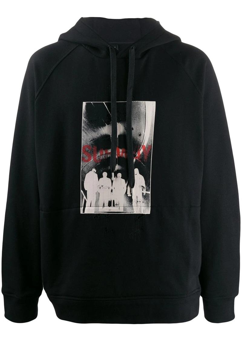 Neil Barrett subway print hoodie
