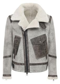 Neil Barrett Suede & Shearling Jacket