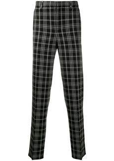 Neil Barrett tapered check trousers