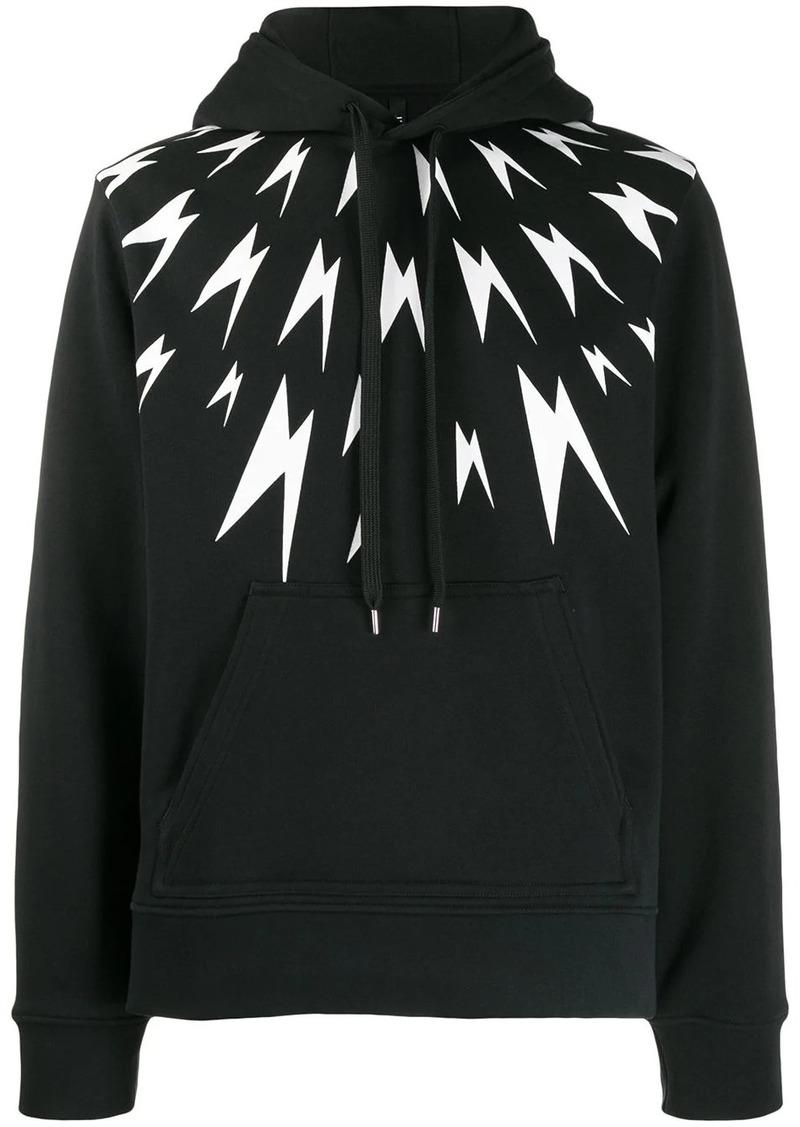 Neil Barrett Thunder bolt print hoodie