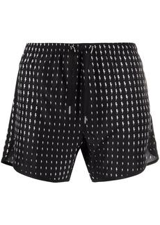 Neil Barrett thunderbolt-print swimming shorts