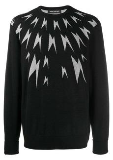 Neil Barrett Thunderbolt wool sweater