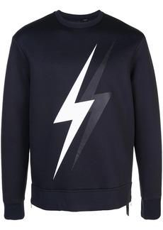 Neil Barrett thunderlight print sweatshirt