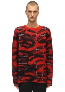 Neil Barrett Tiger & Leo Mohair Blend Knit Sweater