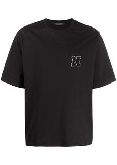 Neil Barrett towelling logo initial T-shirt