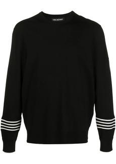 Neil Barrett Travel Techno striped cuff jumper