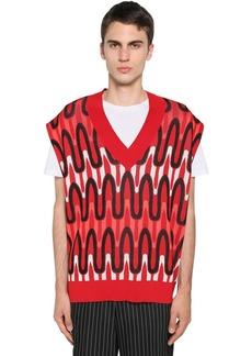 Neil Barrett Viscose & Nylon Jacquard Sweater Vest