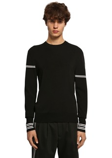 Neil Barrett Viscose Blend Intarsia Knit Sweater