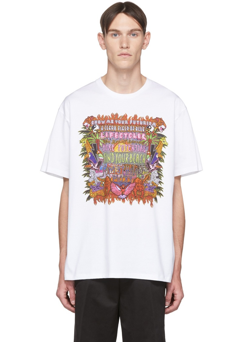 Neil Barrett White & Multicolor Artist T-Shirt