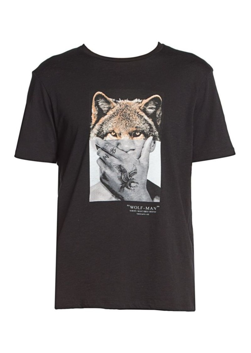 Neil Barrett Wolf Man Graphic Jersey T-Shirt