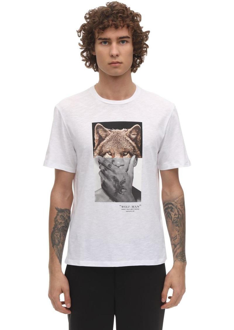 Neil Barrett Wolfman Print Cotton Jersey T-shirt