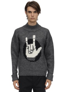 Neil Barrett Wool & Alpaca Knit Sweater
