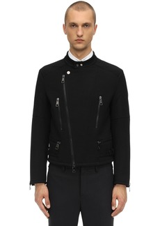 Neil Barrett Wool Blend Jersey Jacket