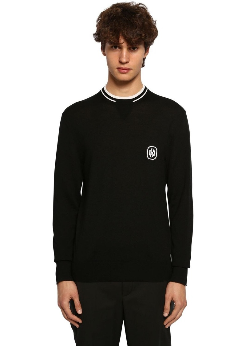 Neil Barrett Wool Blend Knit Sweater W/ Patch