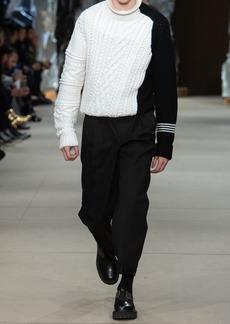 Neil Barrett Wool Cable Knit Sweater