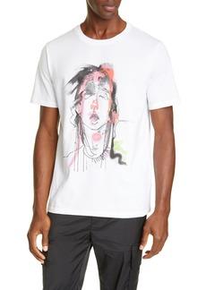 Neil Barrett X Julie Verhoeven Abstract Face Graphic T-Shirt