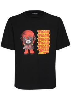 Neil Barrett Ziggie Bear Print Cotton Jersey T-shirt