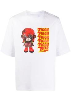 Neil Barrett Ziggie bear print cotton T-shirt