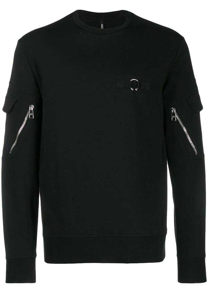 Neil Barrett zip detail sweatshirt