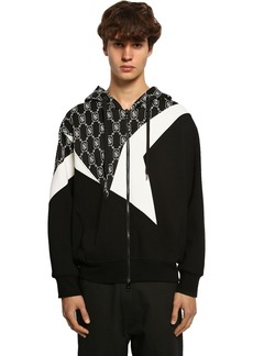 Neil Barrett Zip-up Techno Jersey Sweatshirt Hoodie