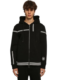 Neil Barrett Zip-up Viscose Blend Jersey Hoodie