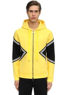 Neil Barrett Zip-up Viscose Neoprene Hoodie