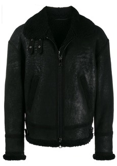 Neil Barrett zipped shearling jacket